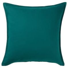 IKEA - GURLI, Cushion cover, dark green, Cotton is a soft and easy-care natural material that you can machine wash. The hidden zipper makes the cover easy to remove.