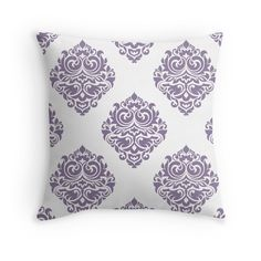 Modern,trendy,damask collage,purple,teal,blue,lavender,white,vintage,elegant,chic,floral,girly