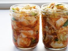 "This is the mother of all kimchi. When Koreans say ""kimchi,"" this is the kind that comes to everyone's minds. Good either fresh or fermented, it goes with everything from meats to noodles. You will need a one-gallon glass jar or four jars. Paleo Recipes, Asian Recipes, Cooking Recipes, Kefir Recipes, Veggie Recipes, Cooking Tips, Antipasto, Quick Kimchi, Kimchi Recipe"