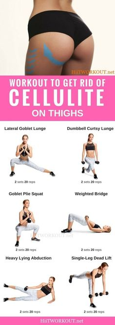 How to get rid of cellulite on buttocks and thighs fast? 6 Exercise, 14 day challenge Cellulite workout at home. workout routine to get rid of cellulite and get firm legs, and smooth thighs. Best exercise to get rid cellulite on butt and thigh. Fitness Workouts, Fitness Po, Fitness Motivation, Sport Fitness, Yoga Fitness, At Home Workouts, Health Fitness, Butt Workouts, Fitness Weightloss