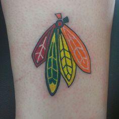 Blackhawks Feather tattoo, like the colours Future Tattoos, Love Tattoos, Beautiful Tattoos, New Tattoos, Tatoos, Piercing Tattoo, Piercings, Feathered Dragon, Carnival Inspiration