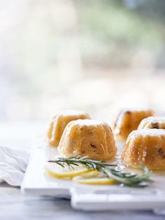 Lemon and Cherry Mini Bundt Cakes | FoodieCrush.com