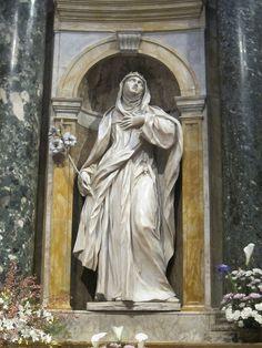 Statue of St Catherine of Siena in Duomo di Siena by asianfiercetiger, via Flickr