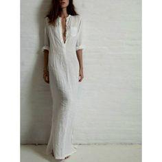 Robe Chemise, Robe Coton et Polyester, Robe Mode 2016, Robe légère, Robe longue, Robe de Plage