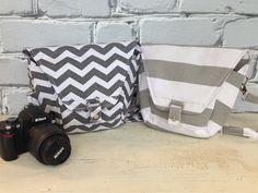 Chevron/Striped Camera Bags!
