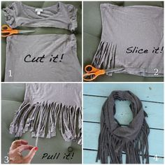 Wow! What can be done with old t-shirts     How many t-shirts that you already don't wear a few years old, lying in your closet? It turns out that they can be turned into great things that will benefit. And in order to make the most of them don't even have anything to alter.