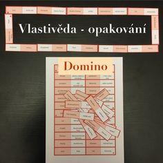 Domino k opakování vlastivědných pojmů Event Ticket