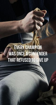Every champion was once a contender that refused to give up Download this FREE wallpaper @ www.V3Apparel.com/MadeToMotivate and many more for motivation on the go! / Fitness Motivation / Workout Quotes / Gym Inspiration / Motivational Quotes / Motivation