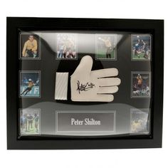 38c8194f9 England F A - Peter Shilton hand signed goalkeeper glove - photographic  certificate of authenticity - fully framed for display - approx x -