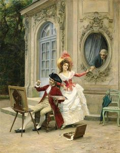 "The Love Letter"" by Jules Girardet (1856-1938)."