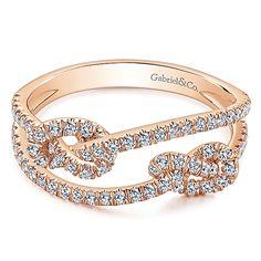 Gabriel - 14k Pink Gold Eternal Love Fashion Ladies' Ring