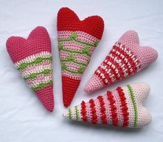 This would be cute crocheted with a finer thread and a smaller hook and made into a pin.