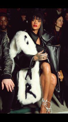 Rihanna during Paris Fashion Week 2014