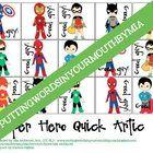 Super Hero Quick Articulation Game {perfect for RTI}
