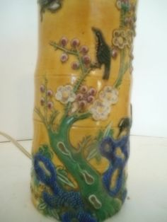 Antique Chinese Famille  Porcelain Enamel Vase Urn Table Lamp  Qing dynasty? #unknown
