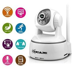 [special_offer]What are the features of WiFi IP Camera, KUCAM HD Wireless Home Security Surveillance/Baby Video Monitor Nanny Cam, Audio, Night Visi Best Security Cameras, Wireless Home Security Cameras, Ip Security Camera, Home Security Tips, Wireless Home Security Systems, Security Solutions, Video Security, Nanny Cam, Security Equipment