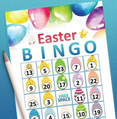 Easter Bingo, Easter Games, Easter Activities, Easter Party, Bingo Games, Party Games, Easter Printables, Printable Party, Easter Celebration