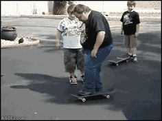 Funny Pictures of the day, 80 pics. Guy On A Skateboard. What Could Go Wrong (Gif)