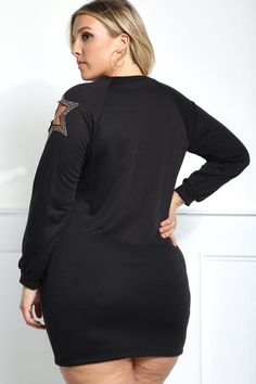 Detail View 4 : LUCKY STAR PLUS SIZE CUT-OUT DRESS