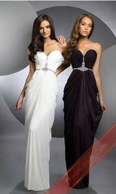 Sweetheart Dress By 59947-BJV,Long White Prom Dress,Sexy Evening Gowns