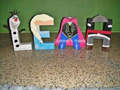 Frozen Character Letter Art by GunnersNook on Etsy, $12.00