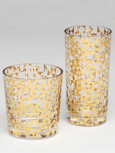 Gold Geometric Glasses