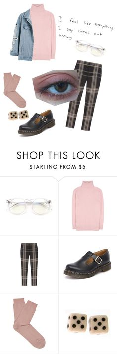 """""""i thought you were the strangest thing"""" by thishazyheadofmine on Polyvore featuring Wildfox, Tomas Maier, Vera Wang, Dr. Martens and Falke"""