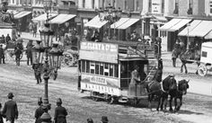 Sackville St/ now O'Connell Street, Dublin Horse-drawn tams, poor animals! Old Pictures, Old Photos, Vintage Photos, Irish Independence, Dublin City, Dublin Street, Ireland Homes, Irish Girls, Emerald Isle