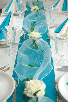 Komplette Tischdeko in türkis-creme für Hochzeit/Geburtstag/Kommunion etcr. | Möbel & Wohnen, Feste & Besondere Anlässe, Party- & Eventdekoration | eBay!