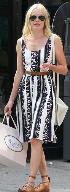 Kate Bosworth: Sunglasses - Ray Ban Aviator Purse - Loewe Dress - Prada Shoes - Celine More Ray-Ban...
