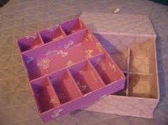 Resultado de imagem para caixinha porta jóias em cartonagem