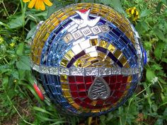 gorgeous gazing ball.