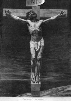 Jesus Christ on the cross Circa 29 AD Original Artwork: A painting by Bonnat.