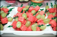 Grape and watermelon