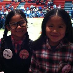 Native kids dressed for Halloween as the characters from Smoke Signals, Victor and Thomas