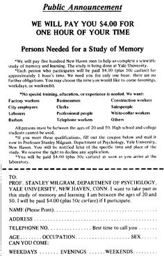 High school sociology experiment ideas high school school and stanley milgram obedience experiments authority study 1974 psychology fandeluxe Gallery