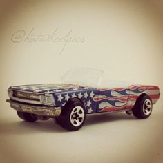 """Happy July 4th! 1965 Mustang - 2002 Hot Wheels """"Star Spangled 2"""" series #hotwheels   #toys   #mustang   #july4th"""