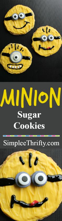 Learn to make fun Minion Sugar Cookies based on Universal's Despicable Me 2! These melt in your mouth Minion Sugar Cookies would also make for a great treat for a Minion birthday party!