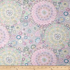 Designed by Kaffe Fassett for Westminster Fabrics, this cotton print is perfect for quilting, apparel and home decor accents. Colors include grey, white, pink, blue and green.