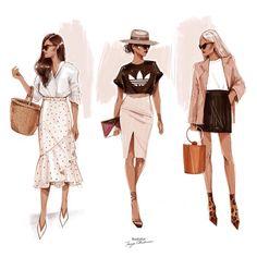 ideas for fashion ilustration sketchbook artists fashion ideas fashion drawing sketches tutorials female bodies Fashion Art, New Fashion, Trendy Fashion, Girl Fashion, Fashion Outfits, Womens Fashion, Fashion Trends, Fashion Ideas, Fashion Advisor