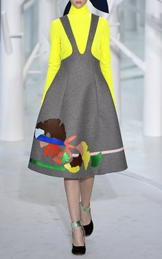Double Faced Wool Pinafore by DELPOZO for Preorder on Moda Operandi