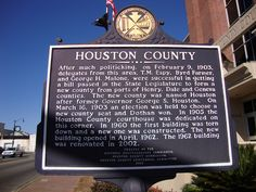 Houston County Marker (Dothan, Alabama) by courthouselover, via Flickr