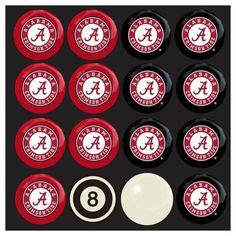 Alabama Crimson Tide Home vs Away Billiard Balls