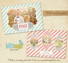 PSD Holiday Card Template  Have fun Landscape  E240 by birdesign, $8.00