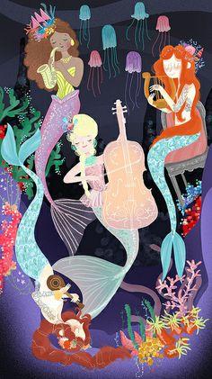The Sea Maidens by Giovana Medeiros, via Flickr