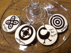 20 African Adinkra Symbol Wine Charms 'Your Wine by FortySevenGems, $30.00