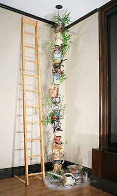 macetas verticales, excelente idea para un departamento y ahorrando espacio