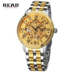 201.98$  Watch now - http://ali9km.worldwells.pw/go.php?t=32754714351 - Original READ Men Mechanical Watches Men Luxury Brand Full Steel Waterproof 50m Business Automatic Wristwatches For Men R8042