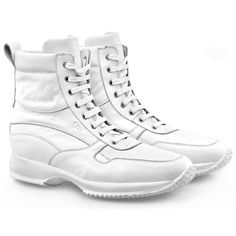 Elevator Shoes for Women : Sochi W, in white full grain leather and lining in soft goatskin, leather shoe laces. Hand Made in Italy By GuidoMaggi. www.guidomaggi.com/us
