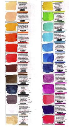 Vitamin Sea  Supplies Ideas Paint Color Wheel, Mixing Paint Colors, Color Mixing Chart, Watercolor Mixing, Easy Watercolor, Painting Tools, Watercolour Painting, Watercolours, Jane Davenport Watercolors